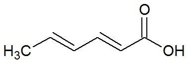 Fórmula estrutural do ácido sórbico