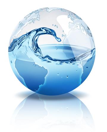 Aproximadamente 70% da superfície do nosso planeta é constituída por água