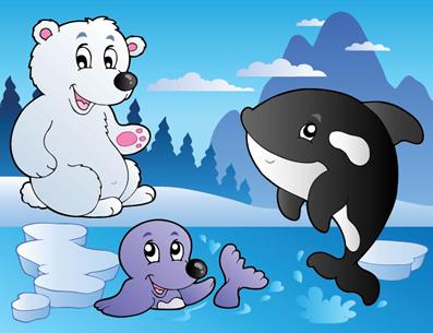 Os animais polares possuem uma grossa camada de gordura que os protege contra o frio