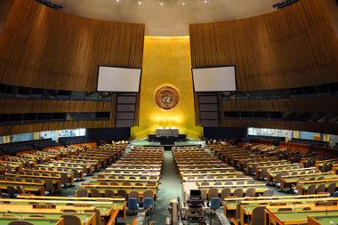 É nesse local que acontecem as reuniões da Assembleia Geral da ONU*