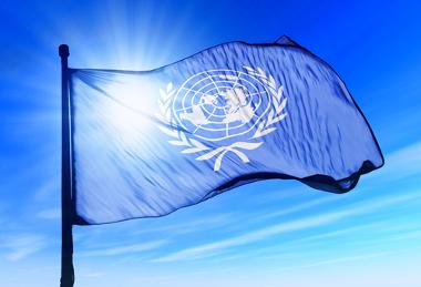 Bandeira simbolizando a ONU