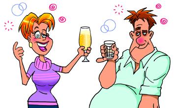 O número de homens que fazem uso de bebidas alcoólicas é normalmente maior do que o de mulheres