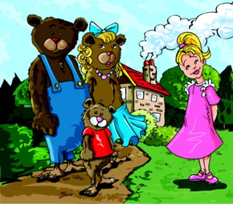 Na história original, a personagem Cachinhos Dourados não existia, na verdade, quem entrava na casa dos três ursinhos era uma raposa