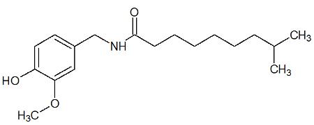 Fórmula estrutural da capsaicina