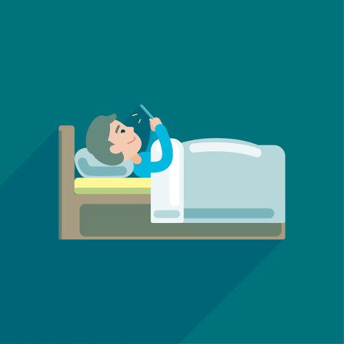 Não devemos utilizar o celular na hora de dormir