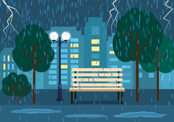 A chuva frontal caracteriza-se pelo encontro de duas massas de ar.