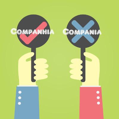 A grafia e a pronúncia correta é companhia, com -nhia, e não -nia. Não existem duas possibilidades
