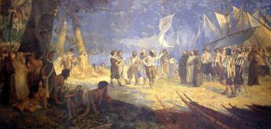 Antônio Parreiras (1860-1937) pintou a tela A conquista da Amazônia para ilustrar a chegada dos portugueses ao norte da colônia