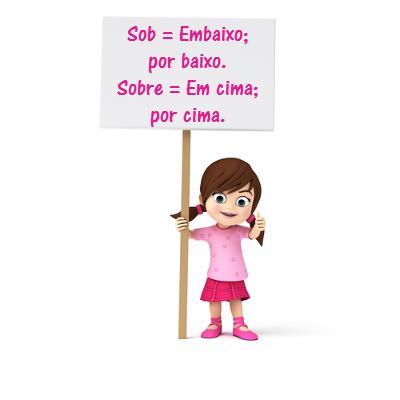 Sob Ou Sobre Dicas De Português Sob Ou Sobre Escola Kids