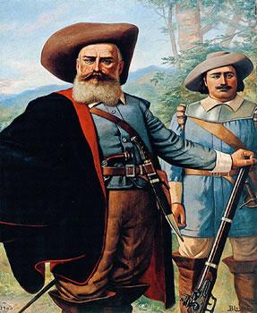 Bandeirante Domingos Jorge Velho, idealizado em desenho de Benedito Calixto (1853-1927)