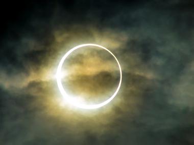 Imagem de um eclipse solar