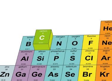 Elemento carbono na Tabela Periódica