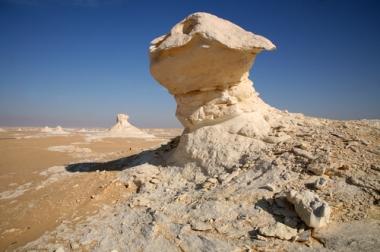 Formação rochosa encontrada no deserto do Saara