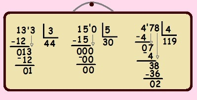 133 dividido por 13 e 478 dividido por 4 não são divisões exatas, enquanto 150 dividido por 5 é exata