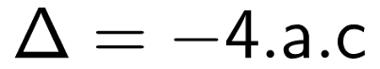Fórmula do discriminante
