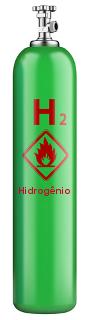 O hidrogênio é um gás