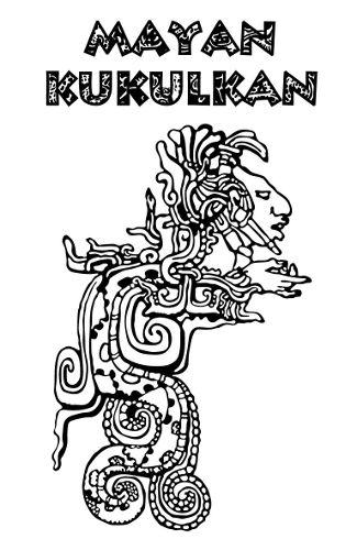 Arte que representa o deus maia Kukulkán, conhecido como serpente emplumada.
