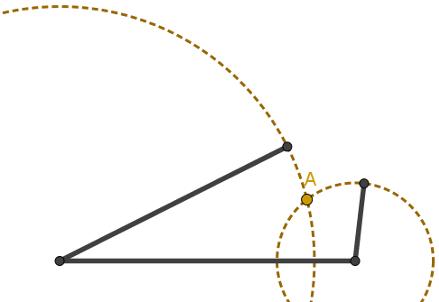 Construção de um triângulo com medidas fixas para os lados