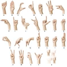 Algumas pessoas possuem graves perdas auditivas e conseguem comunicar-se graças à linguagem de sinais