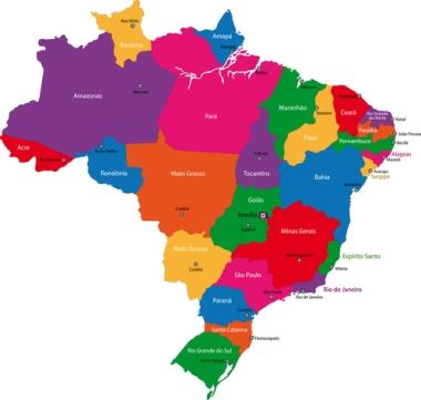 O Brasil possui 26 estados, 1 Distrito Federal e 5570 cidades