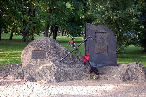 Memorial russo em homenagem às vítimas da batalha de Tsushima. O memorial fica em Kronstadt, Rússia *