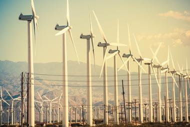 Parque eólico em operação na cidade de Coachella, no estado da Califórnia (EUA)