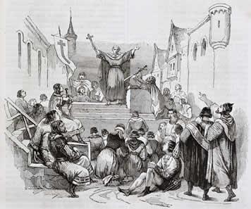 Pedro, o Eremita, discursando aos mendigos