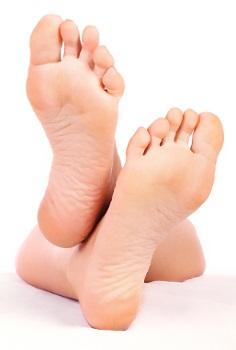 Na planta de nossos pés existem milhares de glândulas produtoras de suor.