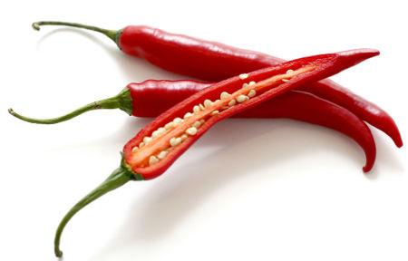 Sementes aderidas à placenta da pimenta