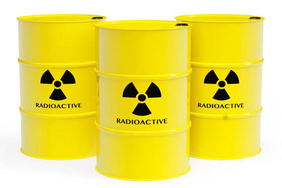 Tambores para armazenar lixo radioativo
