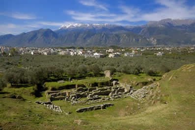 Antigo teatro em Esparta