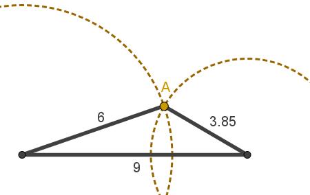 Triângulo em que valem as desigualdades citadas acima