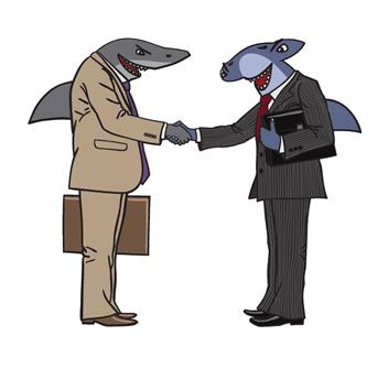 """Os """"tubarões"""" encontram-se e posicionam-se como predadores implacáveis. Nessa disputa metafórica, é difícil precisar o vencedor"""