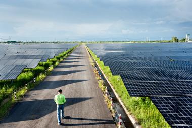 Imagem de uma usina solar produtora de energia