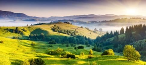 Foto aérea da paisagem na visão oblíqua