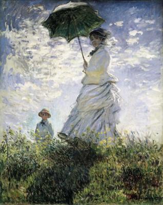Woman with a Parasol, ou Mulher com guarda-sol, do pintor francês Claude Monet, um dos mais célebres pintores impressionistas do mundo